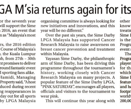 Sime Darby LPGA Malaysia Returns Again For Its Seventh Year